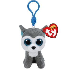 Clip-On Slush Beanie Boo Husky Dog Plush