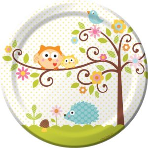 Owl Baby Shower Lunch Plates 8ct