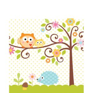 Owl Baby Shower Lunch Napkins 16ct