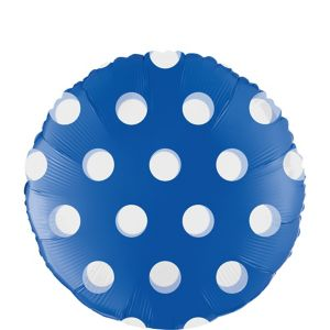 Royal Blue Polka Dot Round Balloon