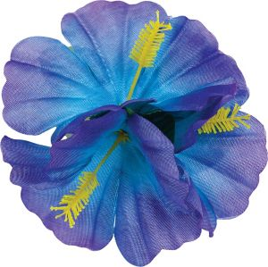 Purple Hibiscus Barrette