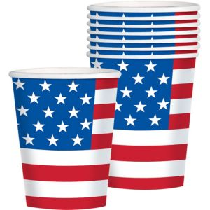 American Flag Cups 8ct