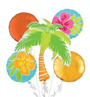 Tropical Balloon Bouquet 5pc - Tiki