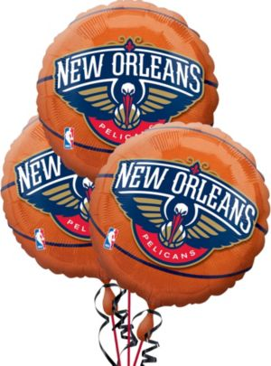 New Orleans Pelicans Balloons 3ct - Basketball