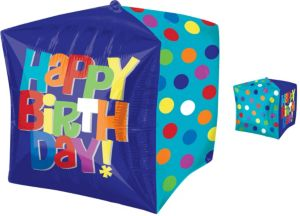 Cubez Bright Birthday Balloon 15in