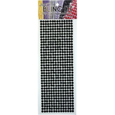 Self-Adhesive Black Rhinestones