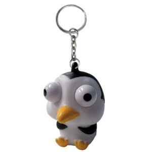 Eye Pop Squeeze Penguin Keychain
