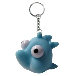 Eye Pop Squeeze Dolphin Keychain