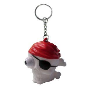 Eye Pop Squeeze Pirate Skull Keychain