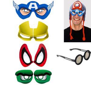 Superhero Cartoon Eyes 4ct