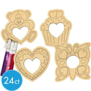 Valentines Picture Frame Decorating Kit 24ct