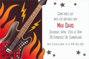 Custom Rock On Invitations