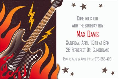 Custom Rock On Invitations