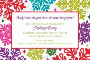 Custom Bright Holiday Invitations