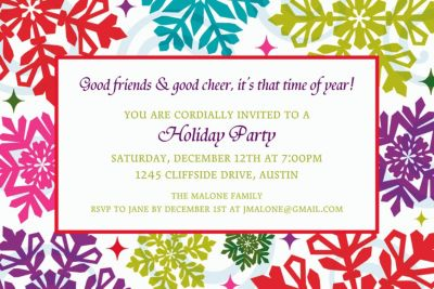 Custom Bright Holiday Invitations