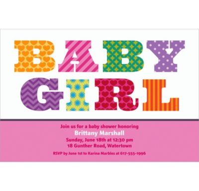 Big Baby Girl Custom Invitation