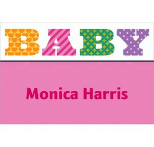 Custom Big Baby Girl Thank You Notes