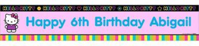 Neon Hello Kitty Custom Banner