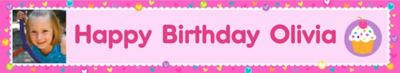 Custom Cupcake Party Photo Banner 6ft