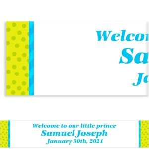 Custom Welcome to the World Boy Banner