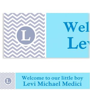 Custom Chevron and Initial Boy Banner