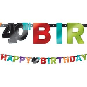 Celebrate 40th Birthday Banner