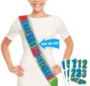 A Year to Celebrate Personalized Sash 60in