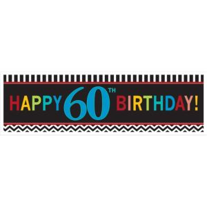 Celebrate 60th Birthday Banner 65in