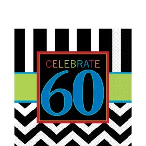 Celebrate 60th Birthday Lunch Napkins 16ct