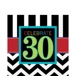 Celebrate 30th Birthday Lunch Napkins 16ct