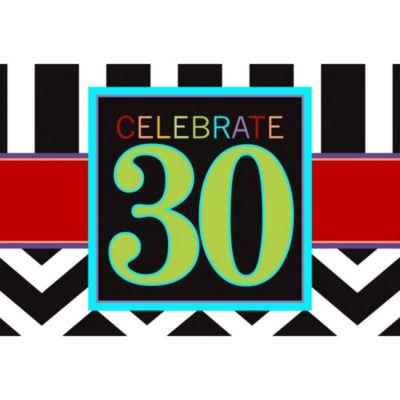 Celebrate 30th Birthday Invitations 8ct