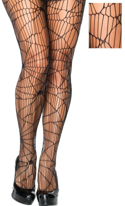 Adult Distressed Net Pantyhose Plus Size