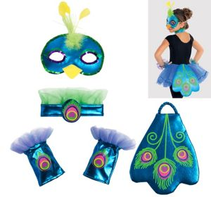 Child Peacock Accessory Kit 4pc