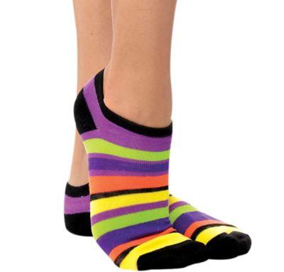 Halloween Stripes Ankle Socks