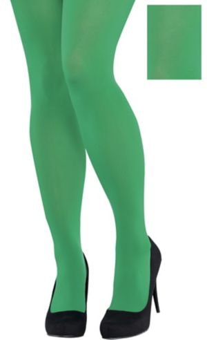 Adult Green Tights Plus Size