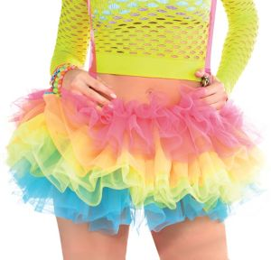 Electric Party Tutu with Suspenders