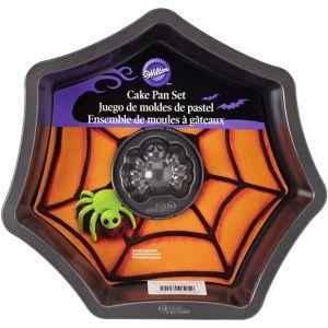 Spider & Web Cake Pan Set 2pc