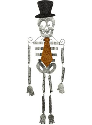 Hanging Glitter Skeleton