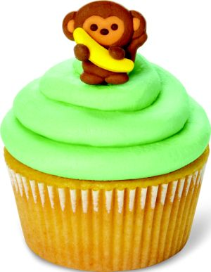 Wilton Monkey Icing Decorations 12ct