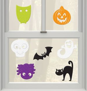 Cute Halloween Gel Cling Decals 7ct