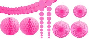 Bright Pink Decorating Kit 9pc