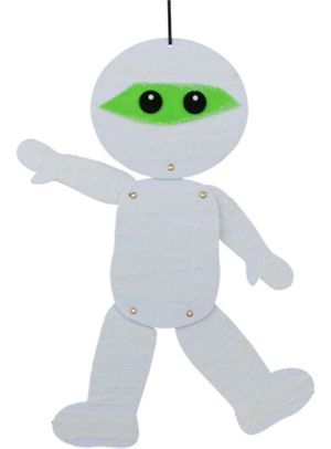 Jointed White Felt Mummy