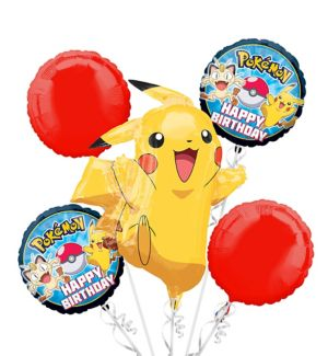 Pokemon Balloon Bouquet 5pc