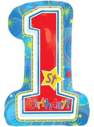 1st Birthday Balloon - One-Derful Birthday Boy