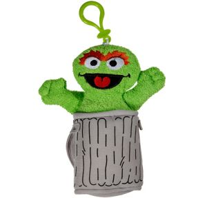 Clip-On Sesame Street Oscar the Grouch Monster Plush