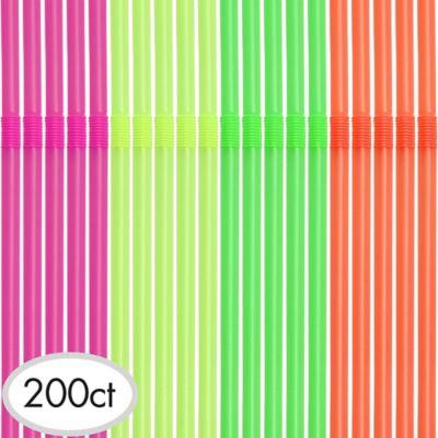Neon Straws 200ct