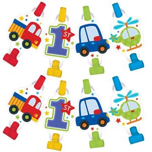 All Aboard 1st Birthday Blowouts 8ct