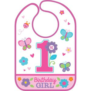 Sweet Girl 1st Birthday Bib