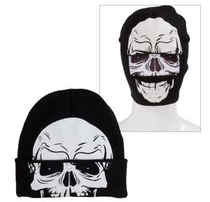 Skull Roll-Down Mask Beanie