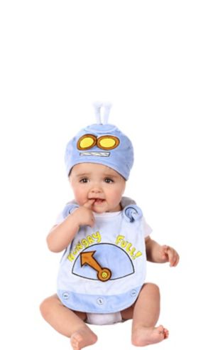 Baby Hungry Robot Bib Set 2pc